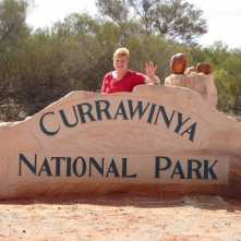 Entry to Currawinya NP just out of Hungerford.