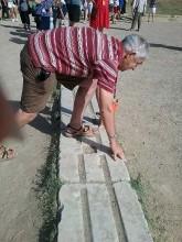 Tom 'Bolt' on the starting blocks