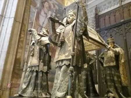 The tomb of Christopher Columbus - Seville Cathedral
