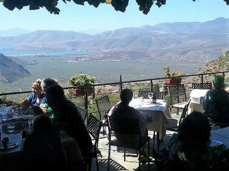 Lunch in Delphi overlooking Itea