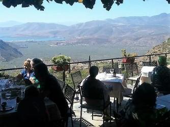 Lunch in Delphi overlooking Itea