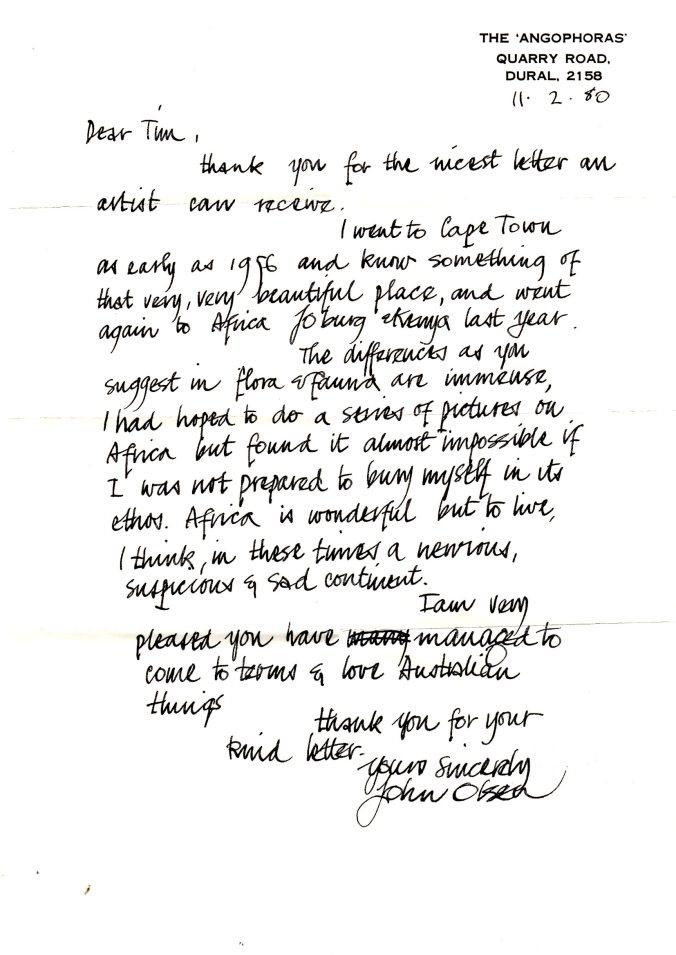 John Olsen letter 11.2.80