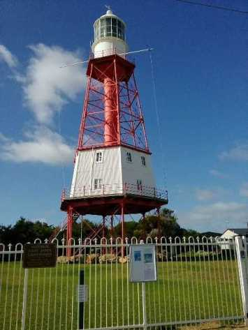 Lighthouse at Kingston - the only lighthouse in Australia to be moved inland - now National Trust